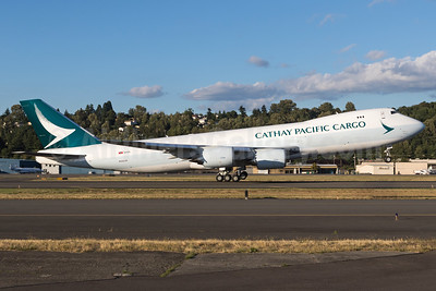 New Cathay Pacific 747-867F freighter in the new livery
