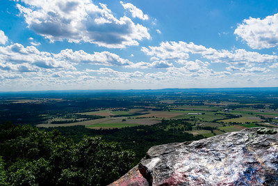 High Rock, a rocky outcropping near Pen Mar Park, Maryland, offers views that go on forever.