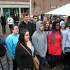 The Town of Billerica held a groundbreaking ceremony for the new Billerica Memorial High School on Monday afternoon. The new school is being built in the fields behind the old one. BMHS students sang the National Anthem to start off the ceremony. SUN/JOHN LOVE
