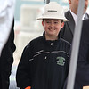 The Town of Billerica held a groundbreaking ceremony for the new Billerica Memorial High School on Monday afternoon. The new school is being built in the fields behind the old one. Sean Heffernan, 11, the son of Chairman of the BMHS Building Committee listens to the speakers at the ceremony. SUN/JOHN LOVE
