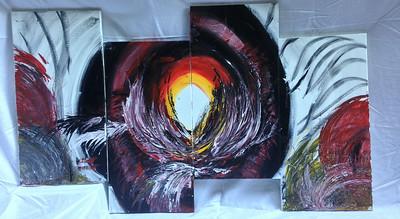 """3rd Eye"" (acrylic) by Revathi Jayaraman"