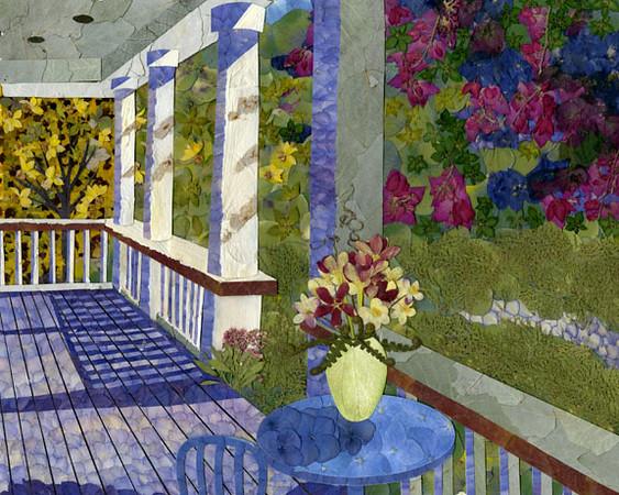 """Summer Garden"" (pressed flower art) by Kate Chu"