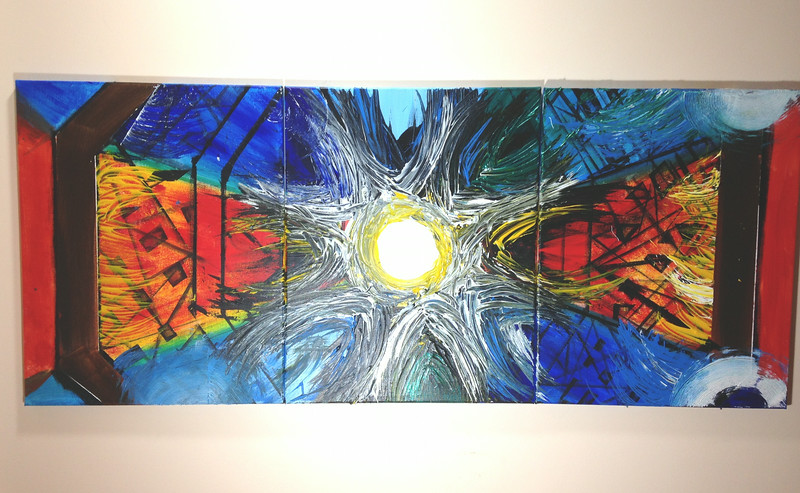 """Octagon"" (acrylic) by Revathi Jayaraman"