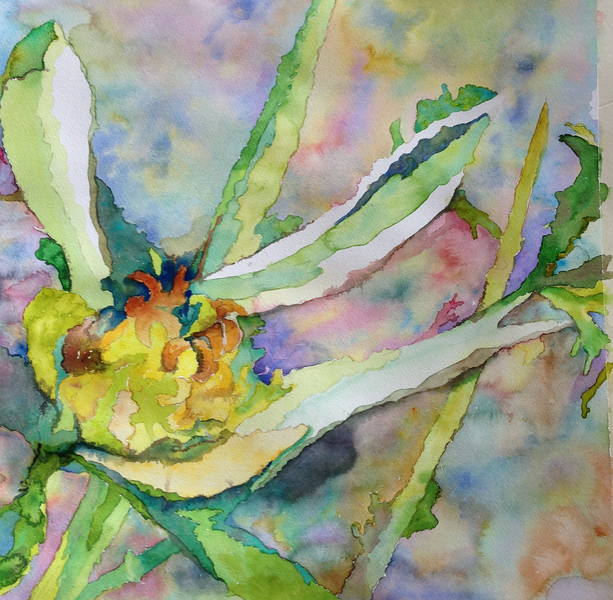 """Lake Blossom"" (watercolor) by Lawrice Recie Dolan"