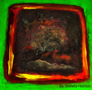 """Dark Dreaming"" (acrylic) by Shineta Horton"