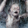"""Bathing Child"" (oil on board) by Tony Havrilla"
