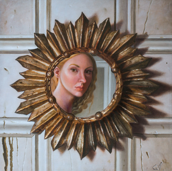 """When One Door Closes..."" (oil on linen) by Elizabeth Weiss"