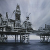 """Rigs"" (oil on canvas) by Tony Havrilla"
