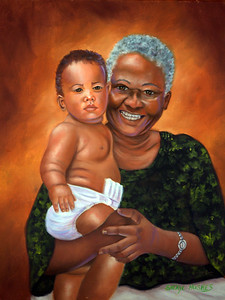 """Proudest Grandma"" (oil on canvas) by Sheryl Hughes"