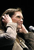 Actress Brooke Shields speaks at the State Theatre in New Brunswick, NJ Tuesday evening, January 17, 2006 as part of the Smart Talk: Women's Lecture Series. Photo © 2006 Cie Stroud