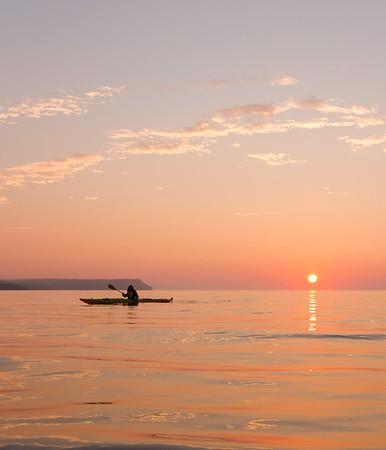Sunrise Paddle. St.Martins NB