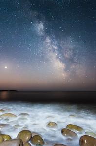 Milky Way and crashing waves. St.Martins NB