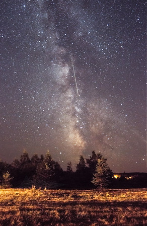 Milky Way and Meteor. St. Martins NB