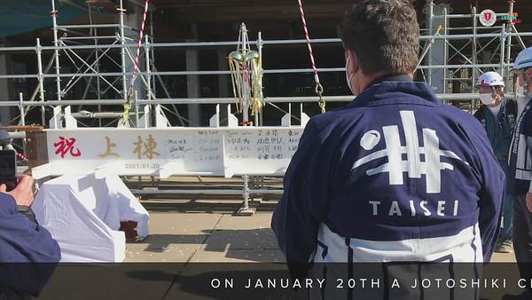 Jotoshiki - Final Beam Raising and Placement