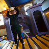 "KRISTOPHER RADDER - BRATTLEBORO REFORMER<br /> Children laugh and play at a newly installed castle at KidsPLAYce on Tuesday, Feb. 6, 2018.<br /> The castle was donated by a local family. The father hand-built the castle for his daughter, and when she outgrew it they donated it to KidsPLAYce.<br /> Michelle Mahin, executive director for KidsPLAYce, said: ""it is not every day that someone offers you a castle, and how can you say no, I am thrilled that we were able to fit it into our space."""