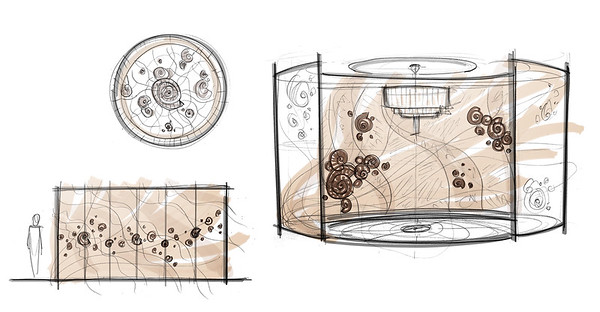 Ammonite Shore | Coffee Table & Art Panels