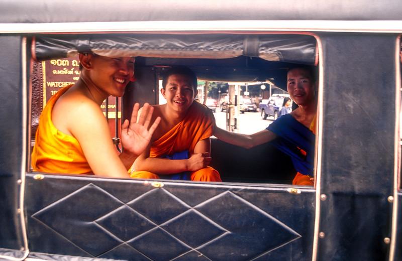 Monks in Tuk Tuk