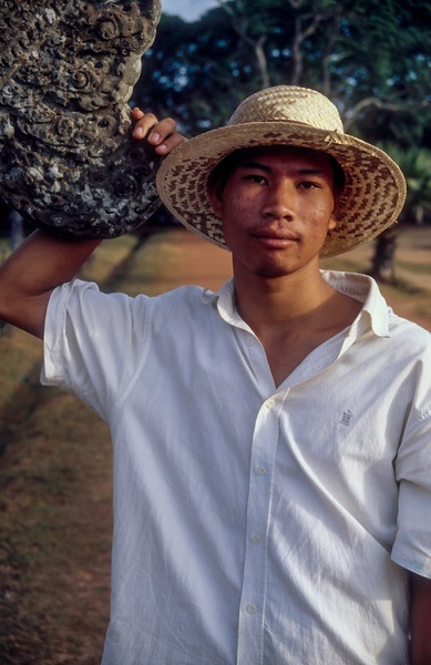Man at Angkor Wat