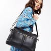 Mayfair ;Luxe Leather, Audley, Handbag ;14'';120-101-BLK;On the model