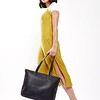 "Mayfair; Luxe Leather; Maddox; Tote; 15""; 120-204-BLK; On the model"