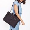 "Dalston; Copenhagen; Briefcase;14"";129-101-BLK;On the model"