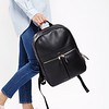 "Mayfair;Luxe Leather;Beaux;Backpack;14"";120401BLK;On the model"