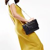 "Mayfair; Luxe Leather; Elektronista; Digital Clutch Bag; 10""; 120-047BLK; On the model"