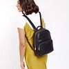 "Mayfair; Luxe Leather; Mini Mount; Backpack; 10"";120-405BLK; On the model"