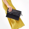 "Mayfair; Luxe Leather; Elektronista; Digital Clutch Bag; 10""; 120-047-BLK; On the model"