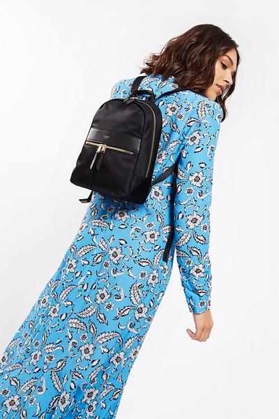 """Mayfair; Mini Beauchamp; Backpack; 10""""; 119-402-BLK; On the model"""