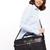 "Mayfair;Hanover;Slim Briefcase;15"";119-104BLK;On the model"