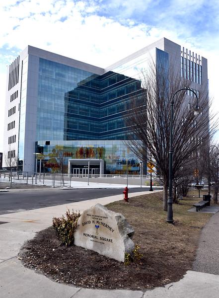 Exterior view of the new Judicial Center. SUN/ David H. Brow