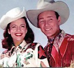 Dale Evans  and Roy Rogers. Mt childhood hero's. They lived and acted the same in REAL LIFE