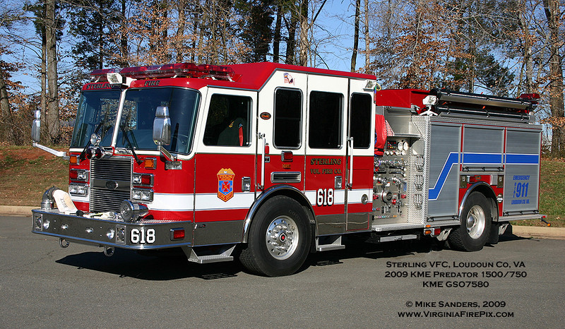 This sharp KME pumper was delivered to the Sterling VFC in Loudoun County in December.  It will replace Engine/Tanker 618, which will be designated Tanker 618.