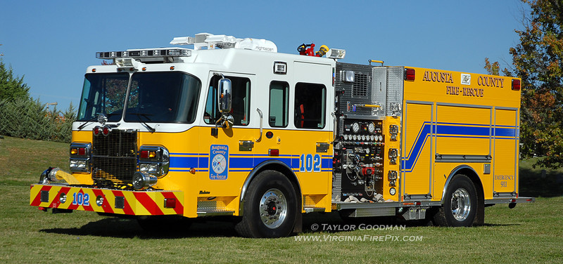 Augusta County Fire & Rescue<br /> Augusta County, VA<br /> Engine 102<br /> 2010 Spartan/Rosenbauer (Central) 1500/750<br /> Replaces a 1989 Seagrave JB