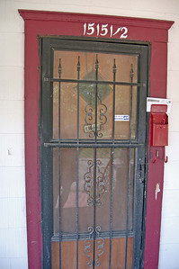 Front door before.