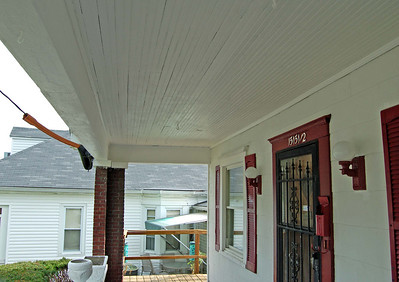 The porch after!  Completed!