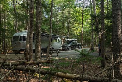 Our campsire (#184) at Jeremy's Bay Campground, Kejimkujik National Park, Nova Scotia, Canada.