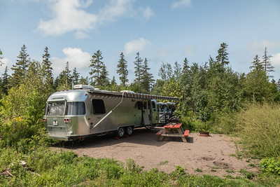 Our campsite at Prince Edward Island National Park - Cavedish Campground.  Site A13.