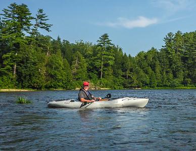 Kayaking on Otter Creek, New Haven, Vermont.