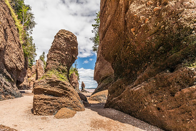 Hopewell Rocks at low tide on the Bay of Fundy, New Brunswick, Canada.