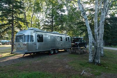 Our campsite (#31) at Broad Cove Campground. Cape Breton Highlands National Park, Nova Scotia.