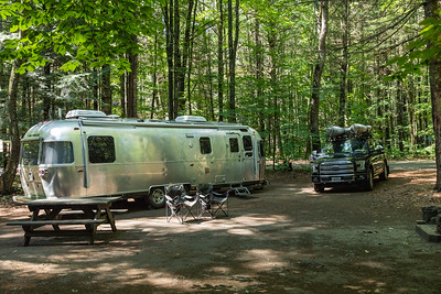 Our campsite (#328) at Northampton Beach Campground. - on the shore of Lake Sagandaga.   Mayfield, New York.