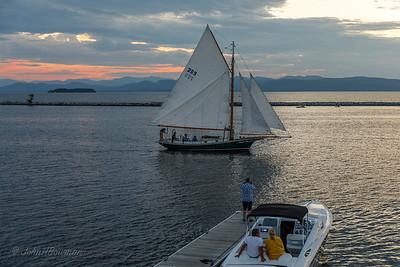 Early Afterglow - Lake Champlain at Burlington