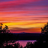 Afterglow, Sunset +19 Minutes, 9/21 - Eagle Lake Overlook, Acadia NP