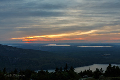 Sunset, 9/20 - Blue Hill Overlook, Acadia NP