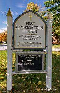 Church Sign - Manchester, VT