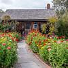 Shelburne Museum - Owl Cottage & Zinnias