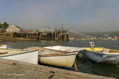 Round Pond Harbor in Fog - Bristol, ME