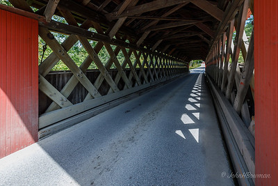 Chiselville Covered Bridge, Interior - Bennington County, VT